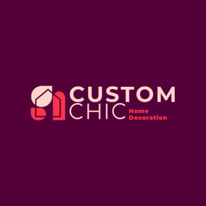 Chic Logo Creator for a Home Decoration Company 4064c