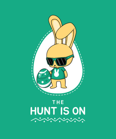 Illustrated T-Shirt Design Maker Featuring a Cool Easter Bunny 3506c-el1