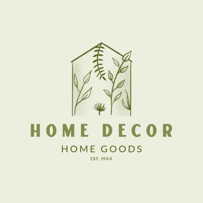 Home Decor Logo Maker Featuring a Minimalist Graphic 4062b