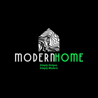 Home Decor Logo Generator with an Abstrac Graphic of a House 4064e
