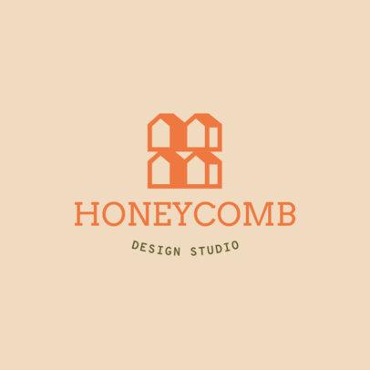 Design Studio Logo Maker Featuring Icons of Houses 4061j