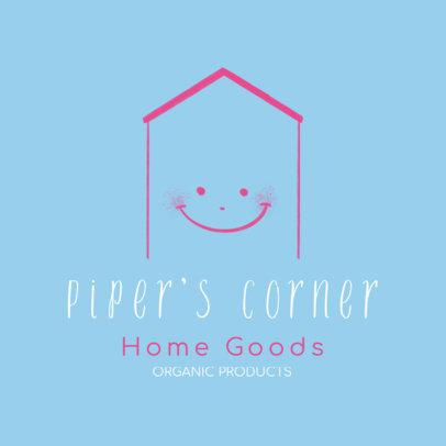 Home Goods Logo Maker Featuring a Smiley Face 4062e