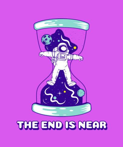 T-Shirt Design Maker Featuring an Astronaut in an Hourglass 3380a