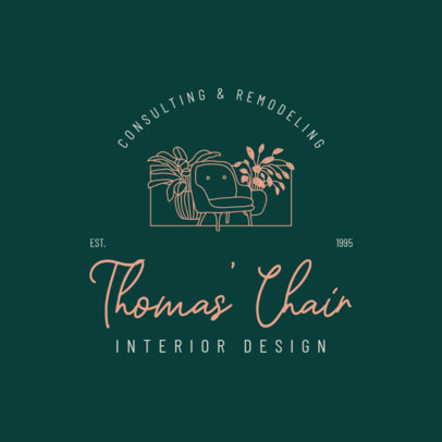 Logo Creator for Interior Design Consulting and Remodeling 4063c