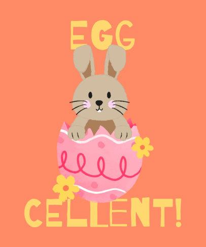 T-Shirt Design Maker Featuring a Bunny Hatching From an Easter Egg 3387j