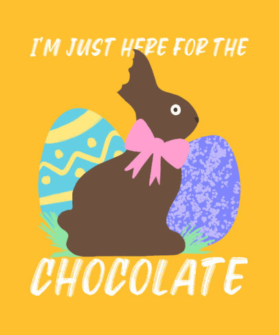 Illustrated T-Shirt Design Creator with a Chocolate Easter Bunny 3387b