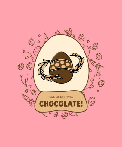 Illustrated T-Shirt Design Generator with a Decorated Easter Egg 3512b-el1