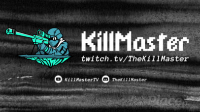 Twitch Starting Soon Screen Video Maker with an Animated Sniper 2626