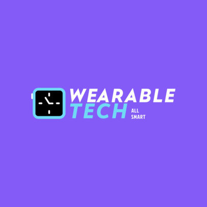 Wearable Tech Store Logo Template with a Clock Graphic 4066f