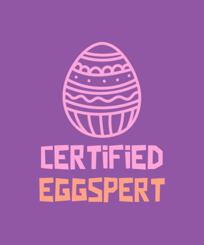 Quote T-Shirt Design Maker Featuring an Easter Egg Graphic 3384b