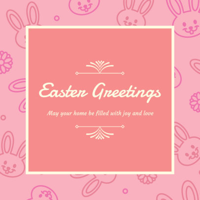 Instagram Post Creator to Share Easter Greetings 3390b