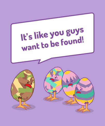 Funny T-Shirt Design Template Featuring Easter Eggs Graphics 3386d