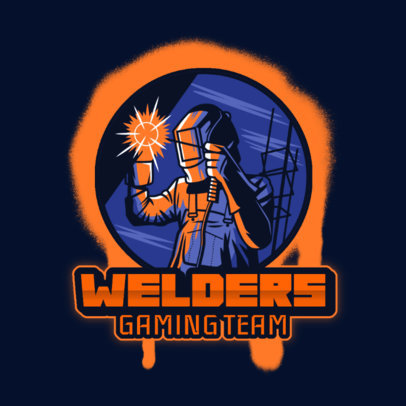 Gaming Logo Generator Featuring an Illustration of a Welder 4060m