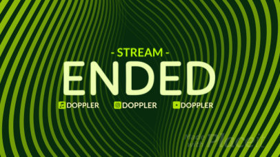 Twitch Offline Screen Video Template Featuring Animated Wavy Graphics 2665