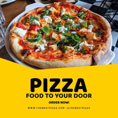 Sales Instagram Post Generator Featuring a Pizza Promo 3540c-el1
