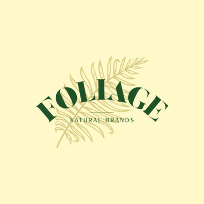 Logo Template for a Natural Products Brand with an Engraved Leaf 3931b
