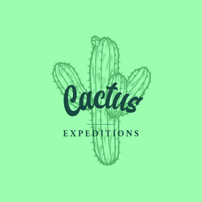 Logo Creator for Adventure Expeditions with a Cactus Graphic 3931k