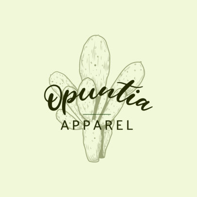 Clothing Brand Logo Generator with a Desert Plant Graphic 3931p