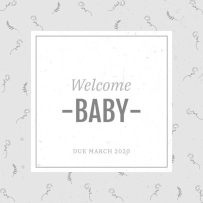 Instagram Post Maker with a Newborn Baby Welcoming Message 3397e
