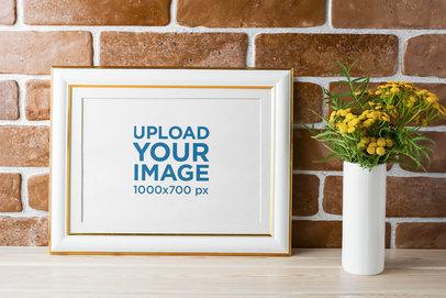 Art Print Mockup Featuring an Elegant Frame 36503-r-el2