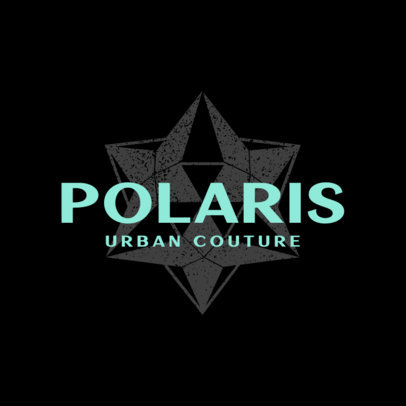 Urban Clothing Brand Logo Generator Featuring a 3D Star Graphic 4081c