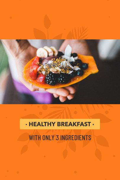Pinterest Pin Post Maker for Healthy Breakfast Tips 624e