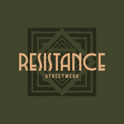 Vintage-Styled Logo Maker for Streetwear Stores Featuring an Abstract Graphic 4081i