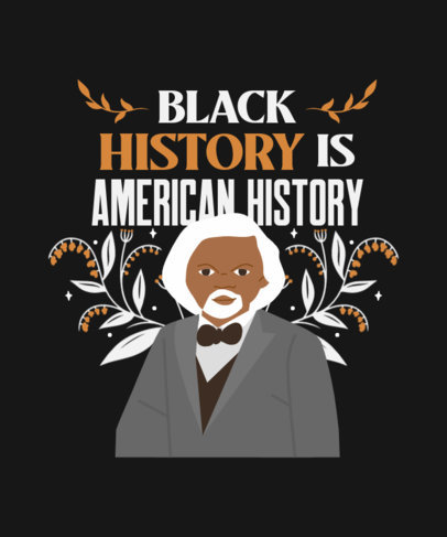 T-Shirt Design Generator with a Black Month History Figure Illustration 3410g