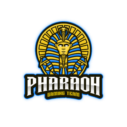 Logo Maker for a Gaming Team with an Icon of an Egyptian Pharaoh 3494d-el1