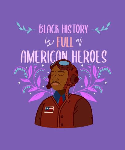 T-Shirt Design Maker to Celebrate Black History Month Heroes 3410h