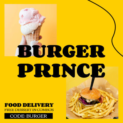 Food Delivery Instagram Post Maker for a Special Promo Ad 3548a-el1