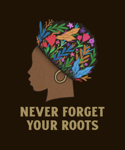 Black History Month-Themed T-Shirt Design Maker With an Illustration of a Woman 3411h