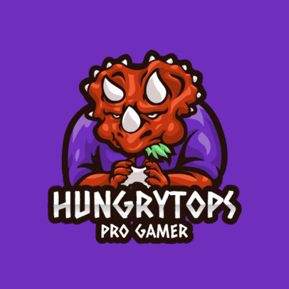 Logo Maker Featuring a Triceratops Gamer Character 3492e-el1