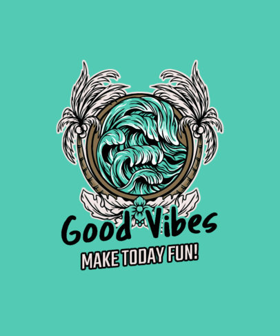 Summer-Themed T-Shirt Design maker Inspired by Tiki Culture 3535d-el1