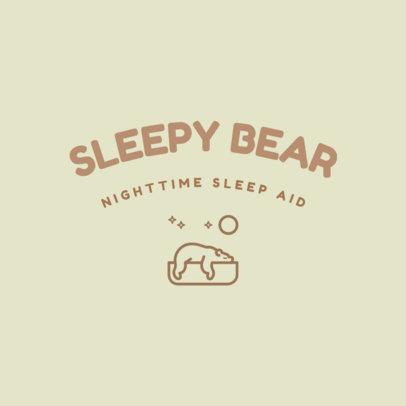 Logo Generator for Sleep Aid Products Featuring a Bear Graphic 4084b