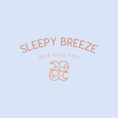 Logo Generator for a Natural Sleep Aid Product Featuring a Moon Graphic 4084e