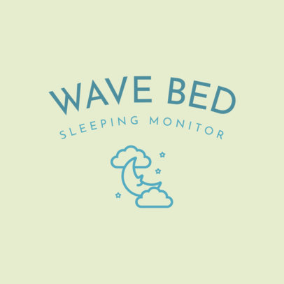 Logo Maker for Sleep Gadgets Featuring a Moon Graphic 4084i