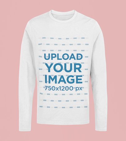Mockup of a Ghosted Long Sleeve Tee with a Customizable Background 41797-r-el2