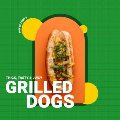 Instagram Post Generator Promoting Tasty Hot Dogs 3544b-el1
