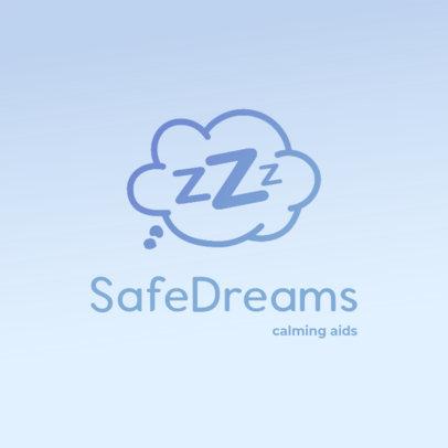 Sleeping Aids Logo Maker Featuring a Cloud Icon 4083e