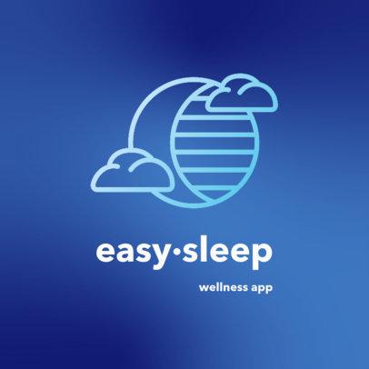 Sleep-Themed Logo Generator for a Wellness App 4083d