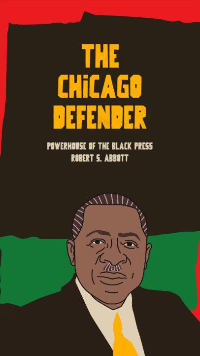 Black History Month-Themed Instagram Story Maker with a Robert Abbott's Illustration 3413j