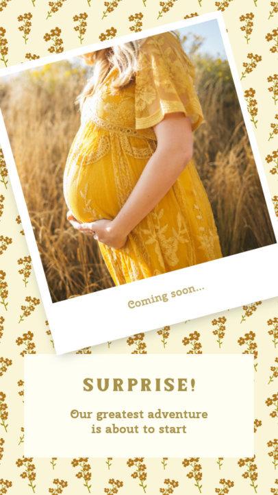 Joyful Instagram Story Maker for a Pregnancy Announcement 3401a