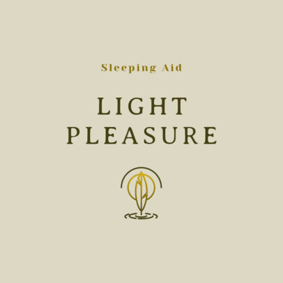 Online Logo Template for Sleeping Aid Products with a Light Leaf Icon 4085d