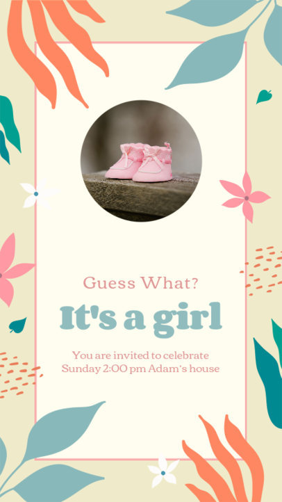 Maternity-Themed Instagram Story Maker to Celebrate a New Baby Girl 3400g