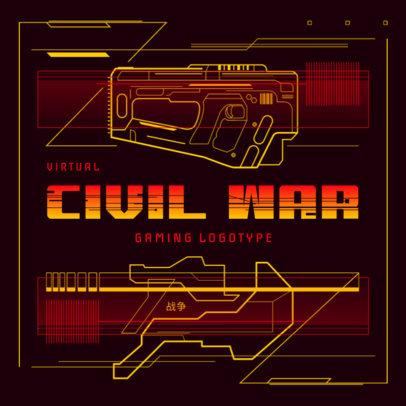 Gaming Logo Creator Featuring a Futuristic Weapon Blueprint 4073a