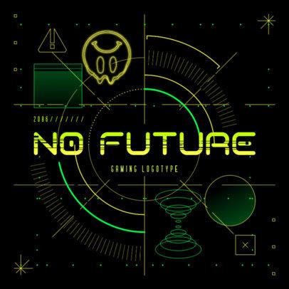 Futuristic Logo Maker with a Cyberpunk 2077-Inspired Background 4073b