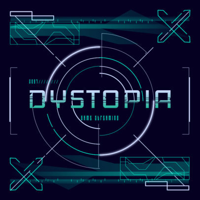 Gaming Logo Maker with a Dystopian Sci-Fi Style 4073d