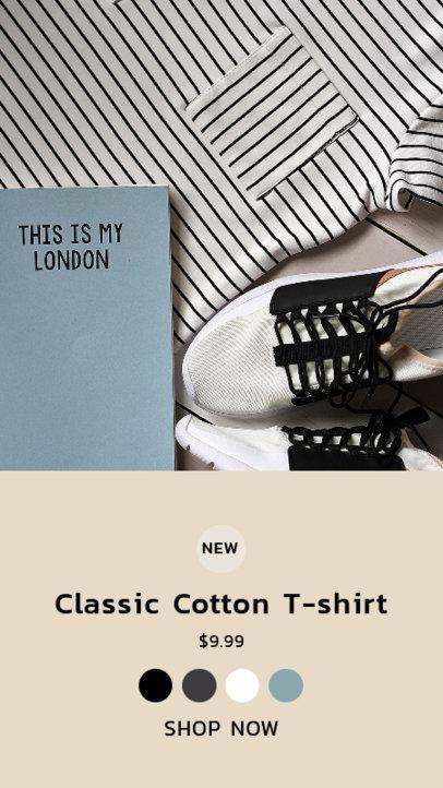 Instagram Story Design Maker for a Dropshipping Clothing Business 3563e-el1