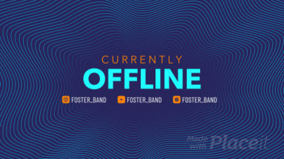 Twitch Offline Screen Video Generator Featuring an Animated Background 2640